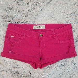 👍👍HOLLISTER Hot Pink Semi-Distressed Shorts